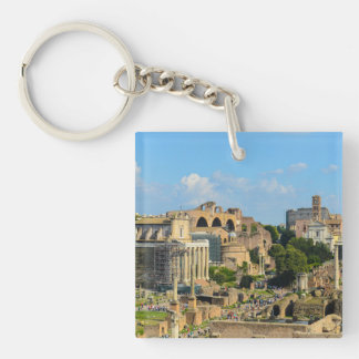 Roman Forum in Rome Single-Sided Square Acrylic Key Ring