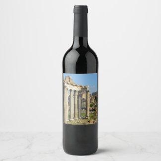 Roman Forum in Rome Wine Label