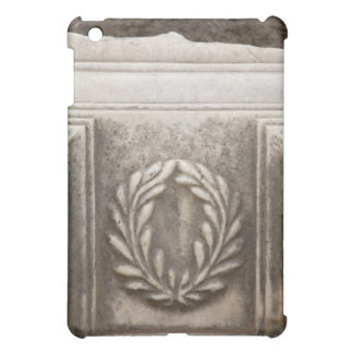 roman forum, laurel design on marble stone block case for the iPad mini