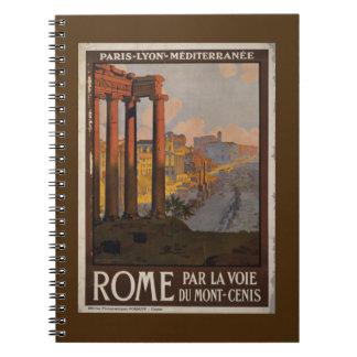 Roman Forum Vintage Travel Advertisement Notebook