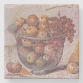 Roman Fruit Still Life from Pompeii Stone Coaster