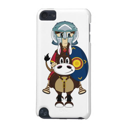 Roman Gladiator on Horse itouch Case iPod Touch (5th Generation) Cases