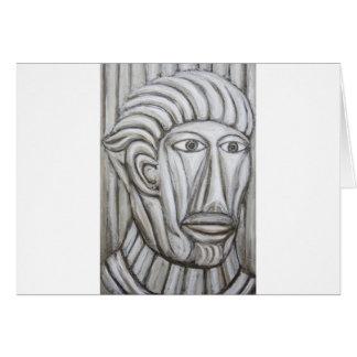 Roman Gladiator (portrait expressionism) Greeting Card