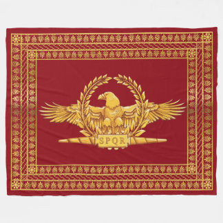 Roman Imperial Eagle SPQR Fleece Blanket