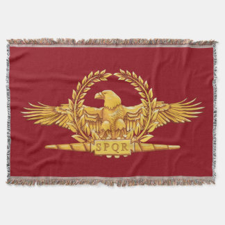 Roman Imperial Eagle SPQR Throw