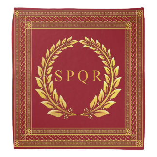 Roman Imperial SPQR and Laurel Bandana