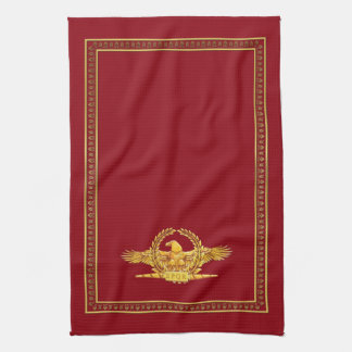 Roman Imperial SPQR Eagle Kitchen Towel