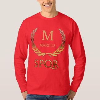 Roman Laurel Wreath Custom Monogram T Shirts