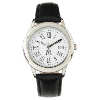 Roman Monogram Black Watch