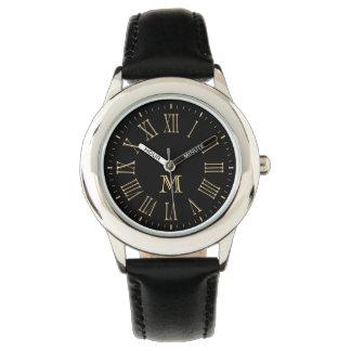 Roman Monogram Gold Wristwatch