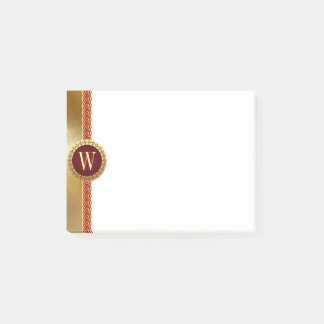 Roman Monogram Post-it Notes