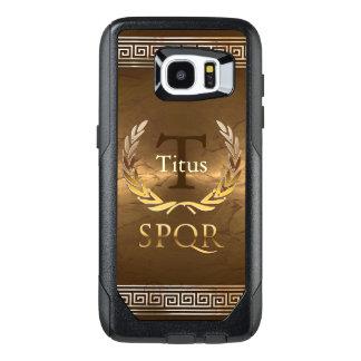 Roman Monogram With Golden Laurels Wreath OtterBox Samsung Galaxy S7 Edge Case