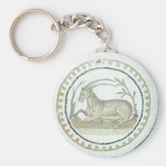 Roman Mosaic Basic Round Button Key Ring