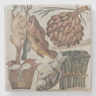 Roman mosaic stone coaster