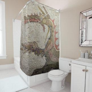 roman mosiac shower curtain