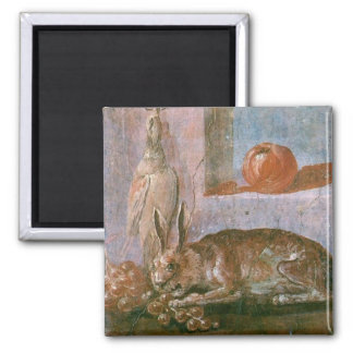 Roman Painting of Rabbit with Eating Magnet