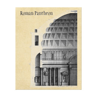 Roman Pantheon Classical Architecture Canvas Print