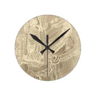 Roman Princess Round Clock