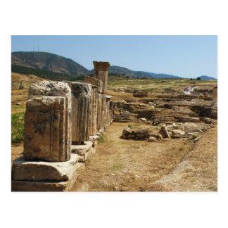 Roman Ruins at Hierapolis Pamukkale  Turkey Postcard