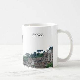 Roman Ruins Entrance in Rome Italy Basic White Mug