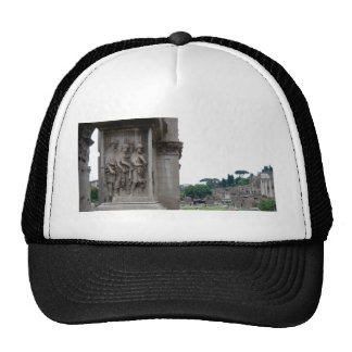 Roman Ruins Entrance in Rome Italy Cap