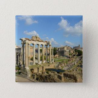 Roman Ruins in Rome Italy 15 Cm Square Badge
