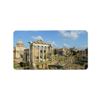 Roman Ruins in Rome Italy Address Label