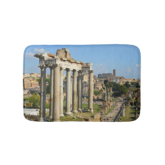 Roman Ruins in Rome Italy Bath Mat