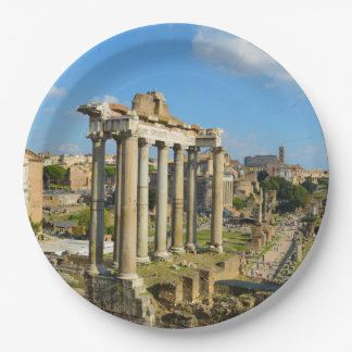 Roman Ruins in Rome Italy Paper Plate