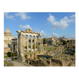 Roman Ruins in Rome Italy Postcard