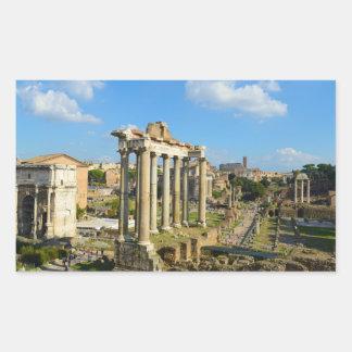 Roman Ruins in Rome Italy Rectangular Sticker