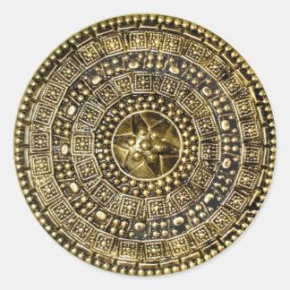 Roman Shield Round Sticker