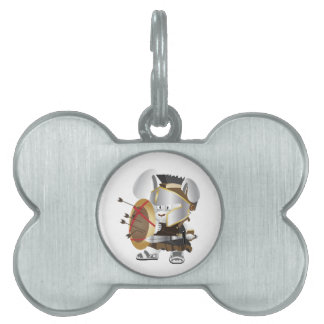 Roman Soldier Bunny Pet Name Tags
