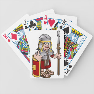 Roman Soldier Cartoon Character Bicycle Playing Cards