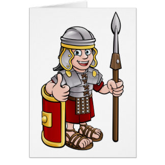 Roman Soldier Cartoon Character Card