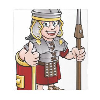 Roman Soldier Cartoon Character Notepad