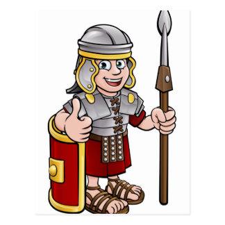 Roman Soldier Cartoon Character Postcard