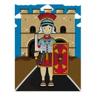 Roman Soldier Guarding Fort Postcard