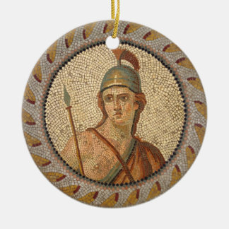 Roman Soldier Mosaic Ceramic Ornament