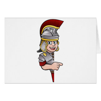 Roman Soldier Pointing Card