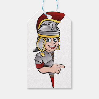 Roman Soldier Pointing Gift Tags