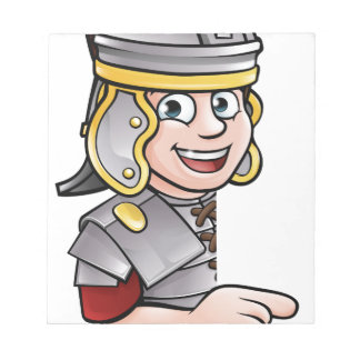Roman Soldier Pointing Notepad