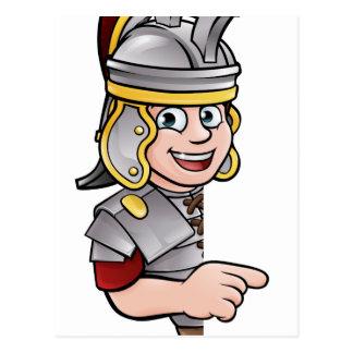Roman Soldier Pointing Postcard