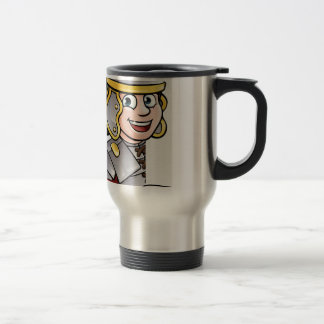 Roman Soldier Pointing Travel Mug