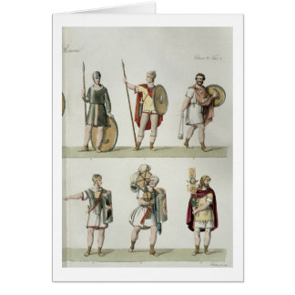 Roman Soldiers, detail from plate 2, class 5 of Pa Card