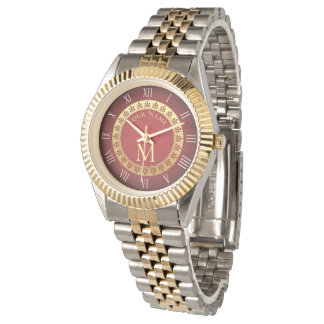 Roman Style Custom Monogram Watch