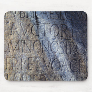 Roman typography at the Forum Rome Italy Mouse Pad