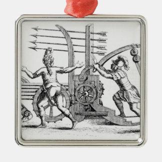 Roman war machine for firing spears metal ornament