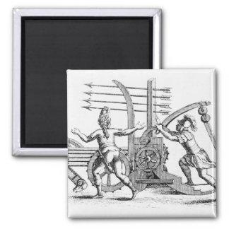 Roman war machine for firing spears square magnet