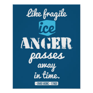 Roman wisdom quote on Anger poster
